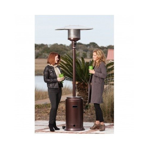 46,000 Btu Commercial Hammer Tone Bronze Finish Patio Heater front-2780