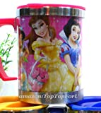 Japan Disney Princess 16oz Stainless Steel Double Wall Insulated Thermos Coffee Tea Mug Cup
