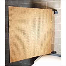 Triton Products D-1 XtraWall Swing Panel Pegboard 48-Inch W by 48-Inch H by 1-1/2-Inch D Wall Mount Double-Sided