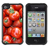 ZEUZ Rugged Armor Slim Protection Case Cover Shell - Fruit Macro Cherry Tomatoes - Apple Iphone 4 / 4S