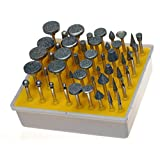 Revesun Diamond Burr Bit Set for Rotary Tool 1/8-inch Shank 50pc 120 Grit (Tamaño: 50 Pieces Kit Grit 120)