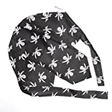 Fitted/ Tied Black & White Pirate Skull & Cross Swords Bandana/ Headwrap - Fancy Dress
