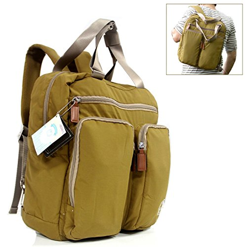 Abonnyc Large Fashion Diaper Backpack Baby Backpack Baby Diaper Dots Diaper Tote Bag / Shoulder Bag Nappy Changing Bag Fit Stroller Muti Functional for Moms and Dads(green)