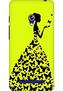 AMEZ designer printed 3d premium high quality back case cover for Asus Zenfone 5 (buttefly princess)