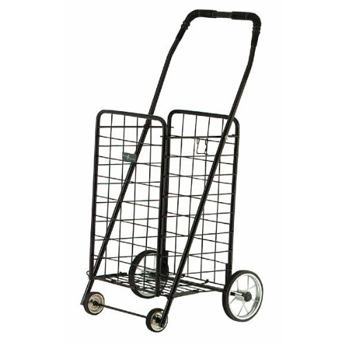 Black Mini Folding Grocery Cart