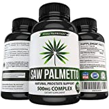 Saw Palmetto Capsules For Prostate Health - Extract & Berry Powder Complex To Reduce Frequent Urination - DHT Blocker To Fight Hair Loss - 500mg Natural Supplement - 100% Money-Back Guarantee