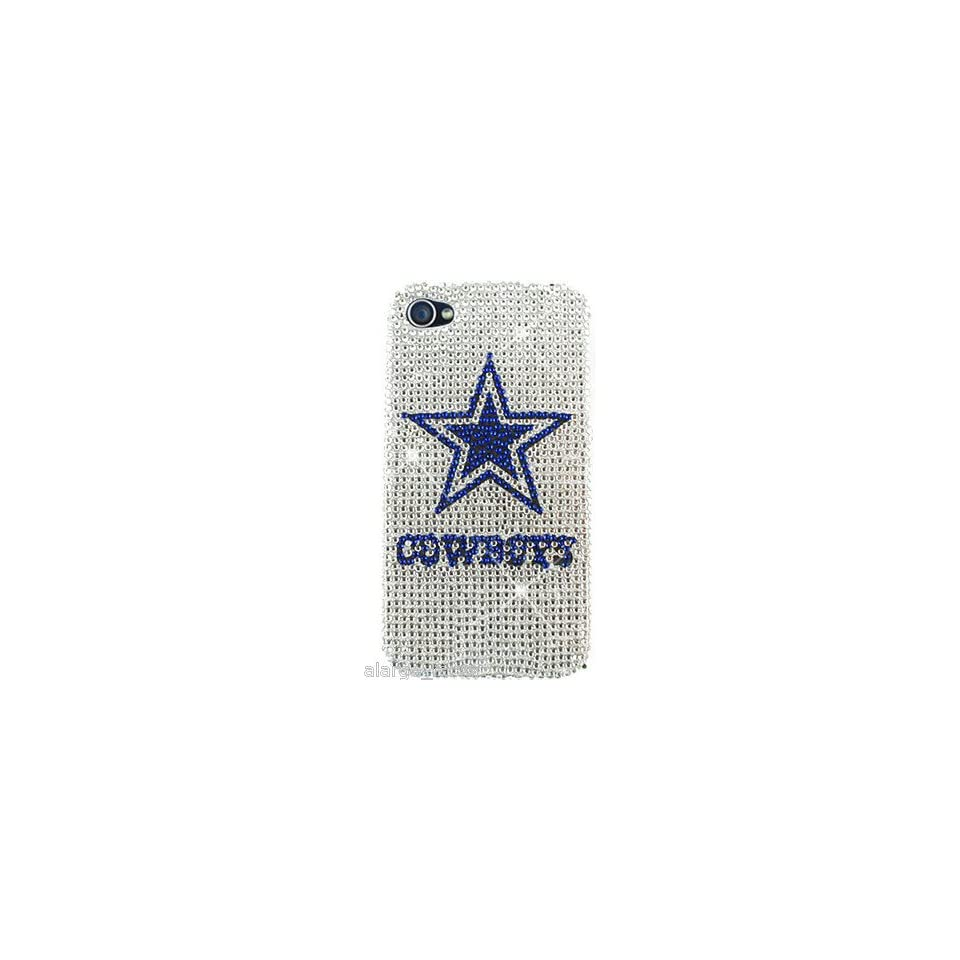 Dallas Cowboys NFL Bling iPhone 4 4S Case Snap On Cover Faceplate Protector Cell Phones & Accessories