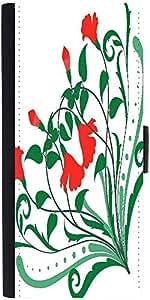 Snoogg Corner Floral Designs Designer Protective Phone Flip Case Cover For Lenovo A6000