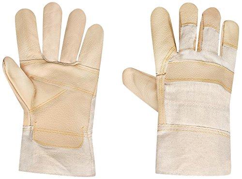 Siena Garden 263747 Arktis - Guanti da lavoro in pelle e tela con fodera in tessuto non tessuto termico, XL