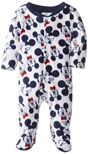 Disney Baby Baby-Boys Mickey Mouse Microfleece Sleep And Play, Multi, 6/9 Months front-897226