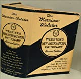 Websters New International Dictionary of the English Language