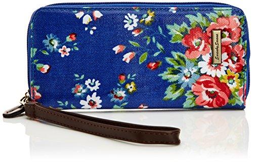 Tiny Love - Classic Floral Print Zip Wallet, Portafoglio da donna, blu (bright blue), One size