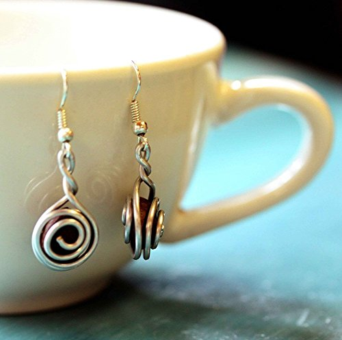 Fair Trade Coffee Bean Earrings for Women: Handmade With Love By Madres Jewelry. (Handmade Wire Jewelry compare prices)