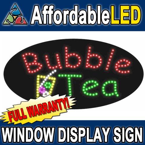 "Bubble Tea Led Window Display Sign (Size 15""H X 27""L X 1""D)"