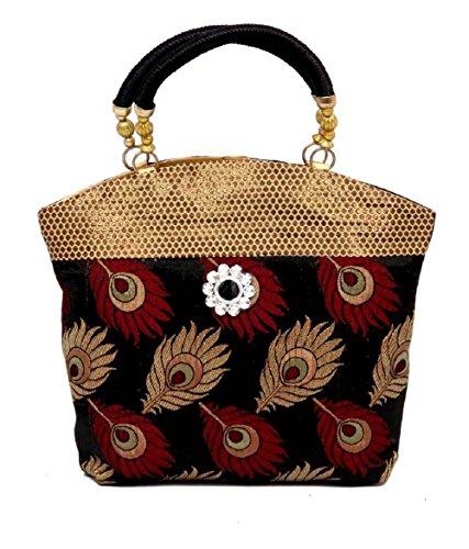 Kuber-Industries-Women-Mini-Handbag-1010-Inches-Black
