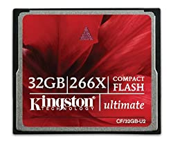 Kingston Ultimate 32GB  Compact Flash Card 266x w/Recovery Software