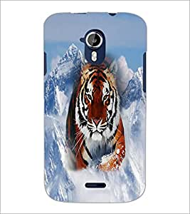 PrintDhaba Tiger D-3699 Back Case Cover for MICROMAX A116 CANVAS HD (Multi-Coloured)