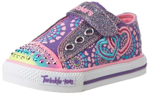 Skechers Kids 10268N S Lights Shuffles Lighted Sneaker,Purple/Pink,5 M Us Toddler front-718858