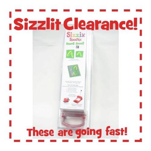 Amazon.com: Sizzix Sizzlit Boxed Brush Alphabet Die Cut Set