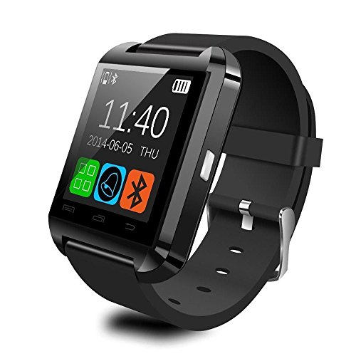 Luxsure® Smart Watch Uwatch Bluetooth Smartwatch for Android IOS System Mobile Phone (U8-Black)