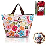 Kalevel Lunch Bags for Women Insulated Fashionable Picnic Lunch Bag Canvas Tote Bag for School Teen