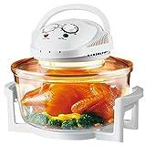 Popamazing 12 LTR White Premium Halogen Oven Cooker 1300 Watts
