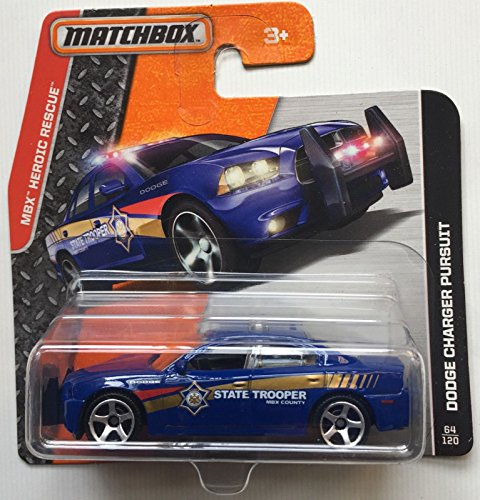 Matchbox MBX Heroic Rescue Dodge Charger Pursuit 64/120 Short card (Matchbox Dodge Charger compare prices)