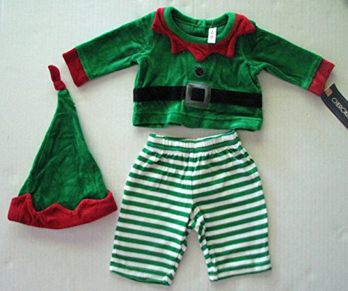 Cherokee Baby Boy Elf Outfit With Elf Hat Size 0-3 Months