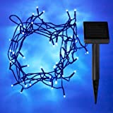 50 Blue LED Solar Fairy Garden Lights, 5 Metre String by Lights4fun