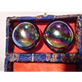Chinese Healthy Balls (Chrome Rainbow Color), Colors of Box May Vary