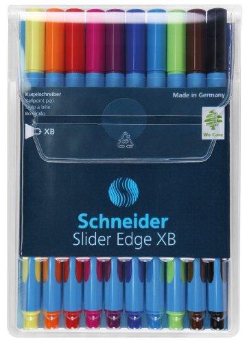 schneider-slider-edge-stylo-bille-non-retractable-couleurs-assortis-pochette-de-10