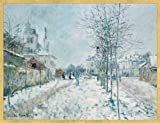 "Caspari Holiday Cards, ""Effect on Snow"" featuring Claude Monet Design, Box of 20 Christmas Cards with Envelopes"