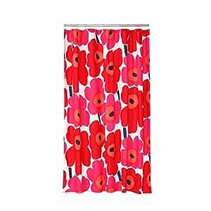 Shower Curtain Marimekko Unikko Red Amazoncouk