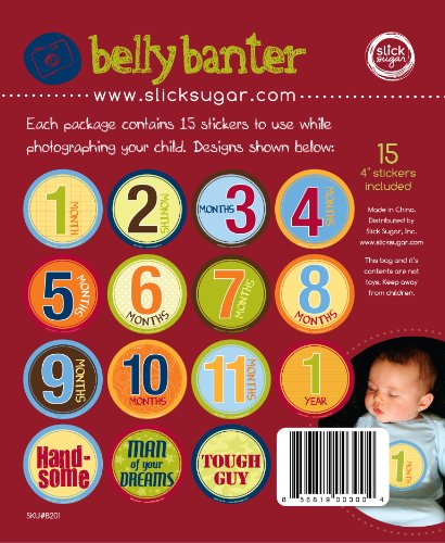 Belly Banter Monthly Baby Keepsakes Stickers For Boy