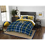 """Georgia Tech Yellow Jackets - 3 Piece FULL Size Embroidered Comforter Set - Entire Set Includes: 1 Full Comforter (76""""x86"""") & 2 Pillow Shams"""