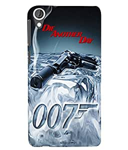 Citydreamz 007\Bond\Die Another Day\James Bond\Gun Hard Polycarbonate Designer Back Case Cover For HTC Desire 728