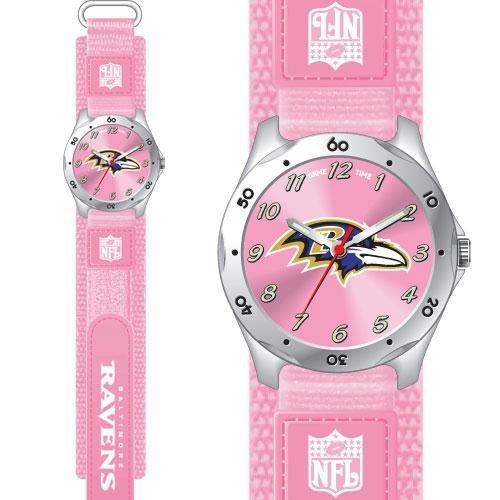 Game Time GTW-NFL-FSP-BAL Baltimore Ravens NFL Girls Future Star Series Watch Pink