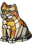 "Meyda Home Indoor Decorative Lighting Accessories 7""H Cat Tiffany Glass Accent Lamp"