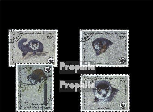Komoren 792-795 (kompl.Ausg.) gestempelt 1987 Weltweiter Naturschutz (Briefmarken für Sammler)