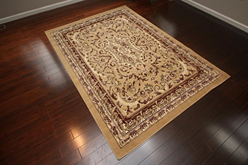 Traditional Opera Persian Area Rug Rugs Beige 8024beige 7'10 x 10'5