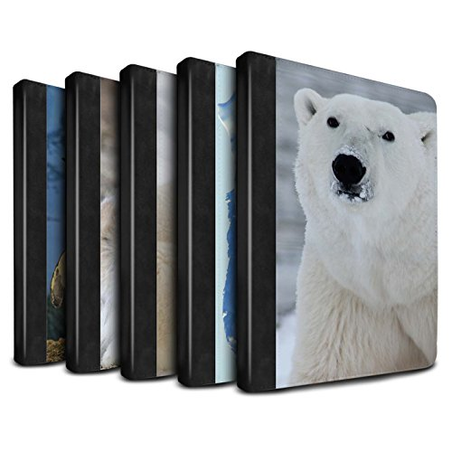 STUFF4 PU Leather Book/Cover Case for Apple iPad Air 2 tablets / Pack 6pcs Design / Arctic Animals Collection (Mr Bump Ice Pack compare prices)