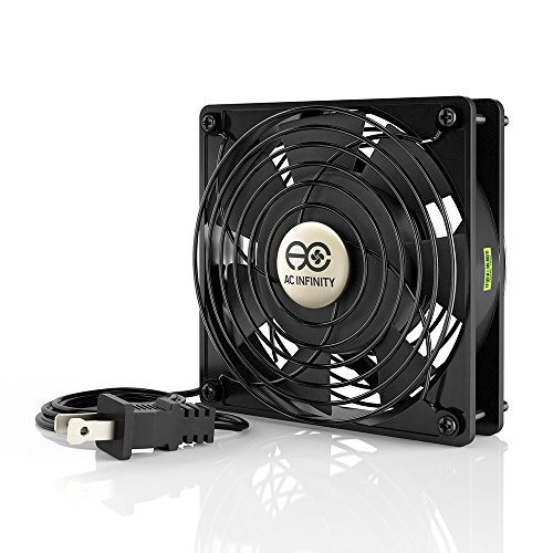 AC Infinity AXIAL 1225, Muffin Cooling Fan, 115V AC 120mm by 120mm by 25mm Low Speed (Low Speed Fan compare prices)