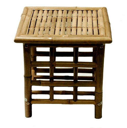 Bamboo Square Side Table photo
