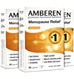 Amberen - Menopause Relief Supplement for Hot Flashes, Irritability, Sleeplessness, Low Libido, Joint & Muscle Pain and Other Symptoms of Menopause (3-months course)