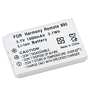eForCity For Logitech Harmony 885 890 Li-Ion Compatible Battery