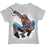 Spider-Man Web Graffiti Toddlers Boys T-Shirt (T2) (Color: Grey, Tamaño: T2)