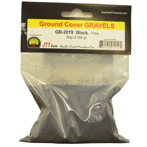 JTT Scenery Products Ballast and Gravel, Black, Fine/200gm