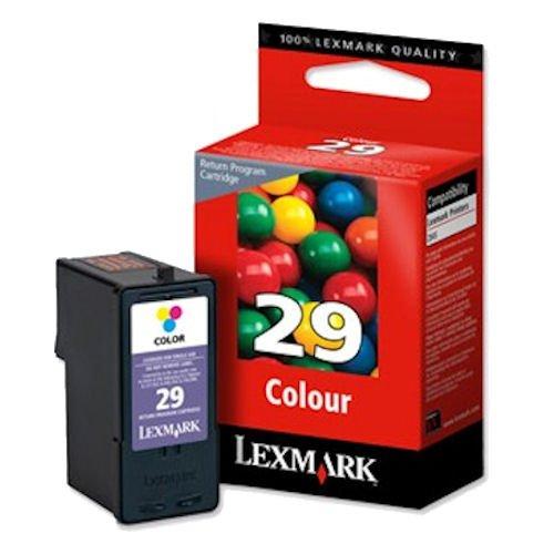 1x Original Tintenpatrone für Lexmark X 5495, Z 1, Nr. 29 - Color + 100 Blatt Ti-Sa Fotocards 10x15 cm 210g glossy