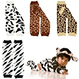 juDanzy leg warmers in cow, giraffe, zebra & leopard for baby, toddler & child