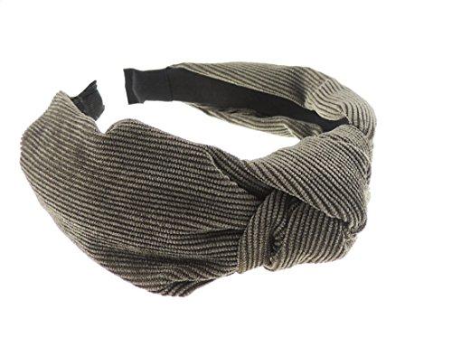 frauen-madchen-cord-drapierung-top-knoten-kopfband-alice-band-gr-einheitsgrosse-grau